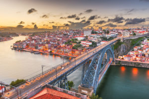 Porto, located along the Douro River estuary